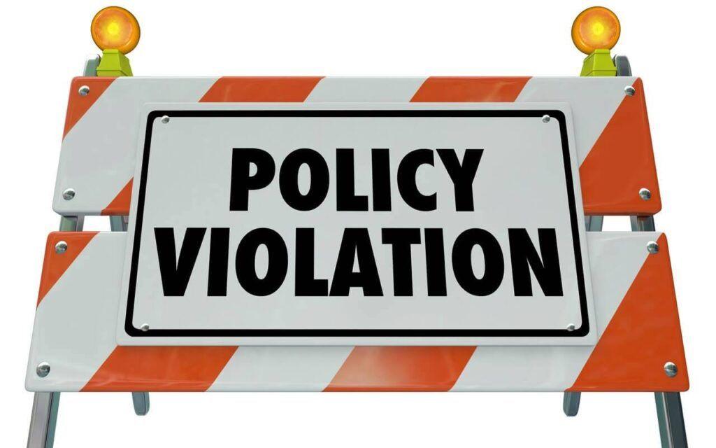 Policy violations piximfix