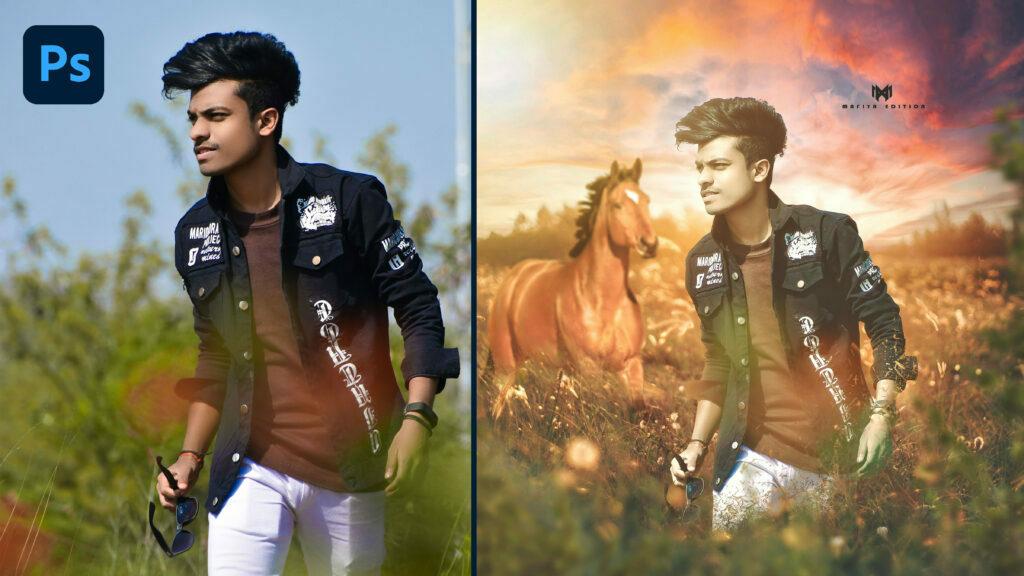 attractive nature photo manipulation